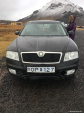Baindu with Toti's car