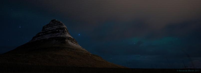 Kírkjufell and aurora