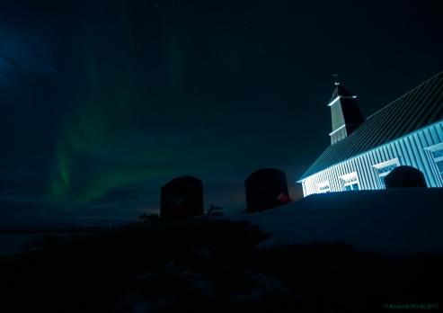Strandakjirka & aurora
