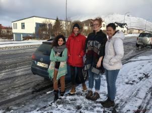 Sivan, Lucia, Sarah and me
